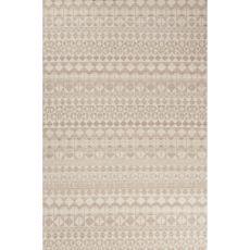Flatweave Tribal Pattern Gray/Tan Wool Area Rug (8X10)