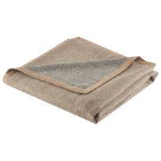 "Brown/Gray Baby Alpaca Throw (50""x60"")"
