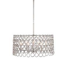 Uttermost Maille 6 Light Silver Pendant