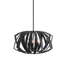 Uttermost Thales Black Geometric 3 Light Pendant