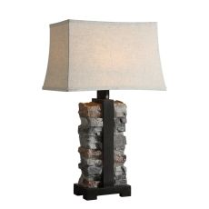 Uttermost Kodiak Stacked Stone Lamp