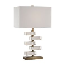 Uttermost Spilsby Stacked Crystal Block Lamp
