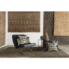 Naturals Tribal Pattern Gray/Taupe Jute Area Rug (9X12)