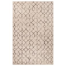 Naturals Tribal Pattern Ivory/Gray Wool Area Rug (9X12)