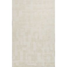 Contemporary Solid Pattern Ivory/White  Wool Area Rug (8x10)