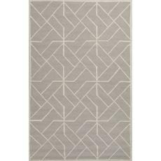 Geometric Pattern Wool Lounge Area Rug