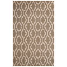 Contemporary Tribal Pattern Beige/Ivory Wool Area Rug (8X10)