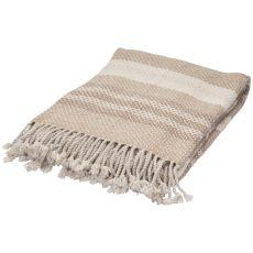 "Beige/Ivory Wool Throw (50""x60"")"
