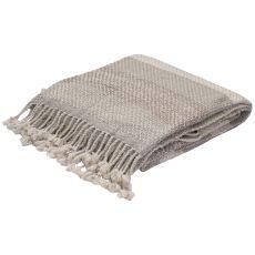 "Gray/Taupe Wool Throw (50""X60"")"