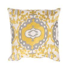 "Southwestern & Country Pattern Yellow/Gray Cotton Down Fill Pillow ( 18""X18"")"