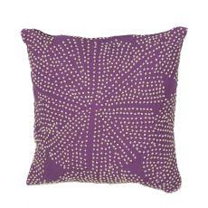 "Modern/Contemporary Pattern Purple/Gray Cotton Down Fill Pillow ( 18""X18"")"