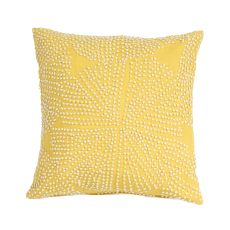 """Modern/Contemporary Pattern Yellow/Ivory Cotton Down Fill Pillow ( 18""""X18"""")"""