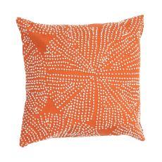 "Modern/Contemporary Pattern Orange/Ivory Cotton Down Fill Pillow ( 18""X18"")"