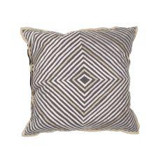 Geometric Pattern Cotton And Linen En Casa By Luli Sanchez Pillows Poly Pillow
