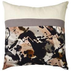 """Modern/Contemporary Pattern Ivory/Gray Cotton, Linen & Polyester Down Fill Pillow ( 20""""X20"""")"""