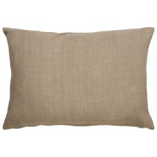 """Animal Print Pattern Taupe/Blue Cotton Down Fill Pillow ( 14""""X20"""")"""