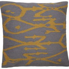 """Modern/Contemporary Pattern Ivory/Yellow Wool And Cotton Down Fill Pillow ( 20""""X20"""")"""