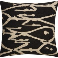 """Modern/Contemporary Pattern Gray/Ivory Wool And Cotton Down Fill Pillow ( 20""""X20"""")"""