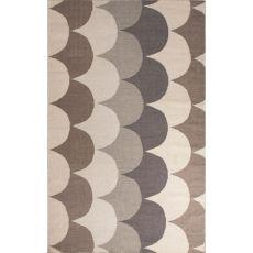 Flatweave Tribal Pattern Taupe/Tan Wool Area Rug (8X11)