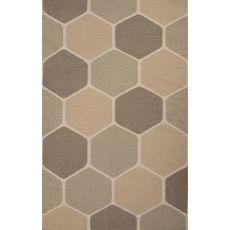 Flatweave Geometric Pattern Taupe/Tan Wool Area Rug (8X11)