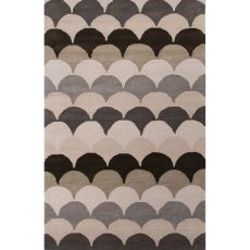 Contemporary Tribal Pattern Blue/Black Wool Area Rug (8X11)