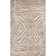 Contemporary Animal Pattern Taupe/Ivory Wool Area Rug (9X13)