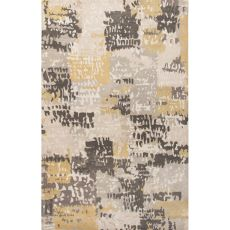 Contemporary Abstract Pattern Beige/Multi Wool Area Rug (9X13)