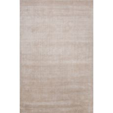 Luxury Solid Pattern Ivory/White Viscose Area Rug (9X13)