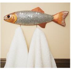 Large Amber Glam Fish-Hook