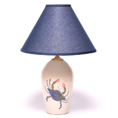 Large Blue Crab Lamp