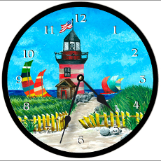 Lighthouse Clock Round