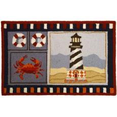 Lighthouse & Crab Rug
