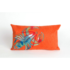 Blue Lobster Oblong Indoor Outdoor Pillow