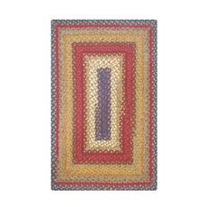 Homespice Decor 5' x 8' Rect. Log Cabin Step Cotton Braided Rug