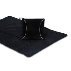 Black Fleece Blanket Cushion