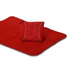Red Fleece Blanket Cushion