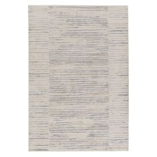 Contemporary Abstract Pattern Blue/Gray Viscose and Polypropylene Area Rug ( 9x13)
