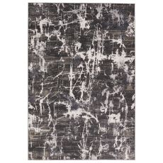 Contemporary Abstract Pattern Neutral/Gray Viscose And Polypropylene Area Rug ( 9X13)