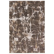 Contemporary Abstract Pattern Neutral/Brown Viscose And Polypropylene Area Rug ( 9X13)