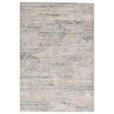 Contemporary Abstract Pattern Gray/Neutral Viscose And Polypropylene Area Rug ( 9X13)