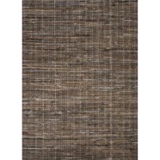Flatweave Solid Pattern Brown Cotton Area Rug (9X12)