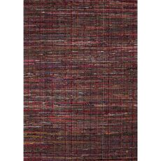 Flatweave Solid Pattern Red Cotton Area Rug (8X10)
