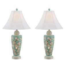 Beach Shells Night Light Table Lamps (Set Of 2)