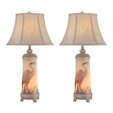 Heron Night Light Table Lamp (Set Of 2)
