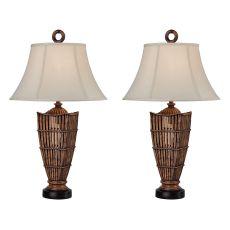 Rattan Night Light Table Lamp (Set Of 2)