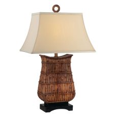 Rectangular Rattan Night Light Table Lamp (Set Of 2)
