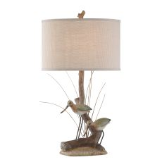 Natural Shore Birds Table Lamp Set of 2