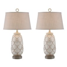 Sand Dollar Rope Table Lamp (Set Of 2)