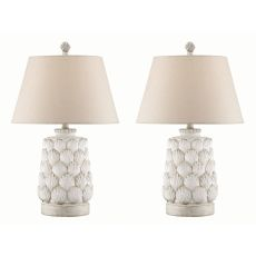 Accent Seashell Night Light Table Lamp (Set Of 2)