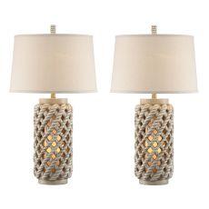 Rope Lantern Night Light Table Lamp (Set Of 2)